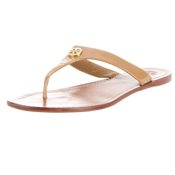 0c35e5111e93f4 Tory Burch Shoes - Tory Burch - Nude Leather Slide Sandals - US 9.5